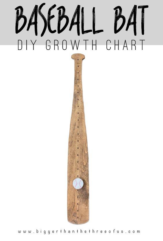 DIY Baseball Bat Growth Chart | Crafts, Tutorials and The o'jays