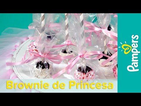 Chá de Bebê de Princesa: Lembrancinha de Brownie de Chocolate | Pampers BR - YouTube