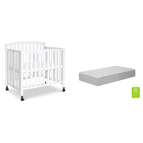 Davinci Dylan Folding Portable 3 In 1 Mini Crib And Twinbed White With Complete Slumber Mini Crib Mattress In 2020 Mini Crib Crib Mattress Cribs