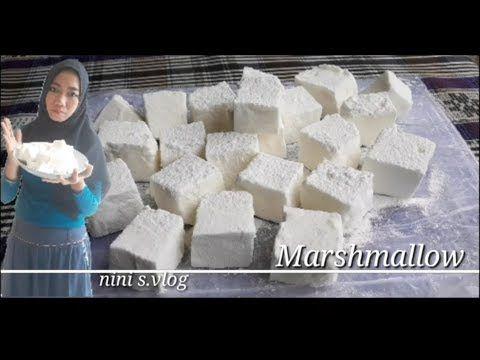 Resep Mudah Membuat Marshmallow Jiggly Fluffy Tanpa Termometer Youtube Resep Makanan Marshmallow