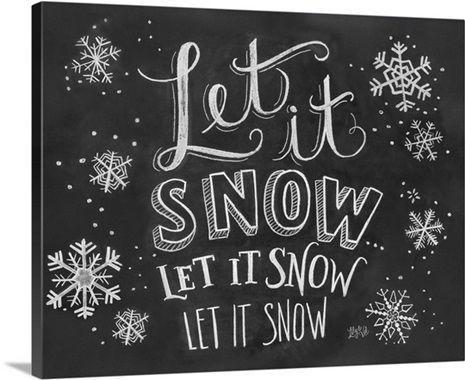 Let It Snow Handlettering Christmas Chalkboard Art Chalkboard Wall Art Winter Chalkboard Ideas