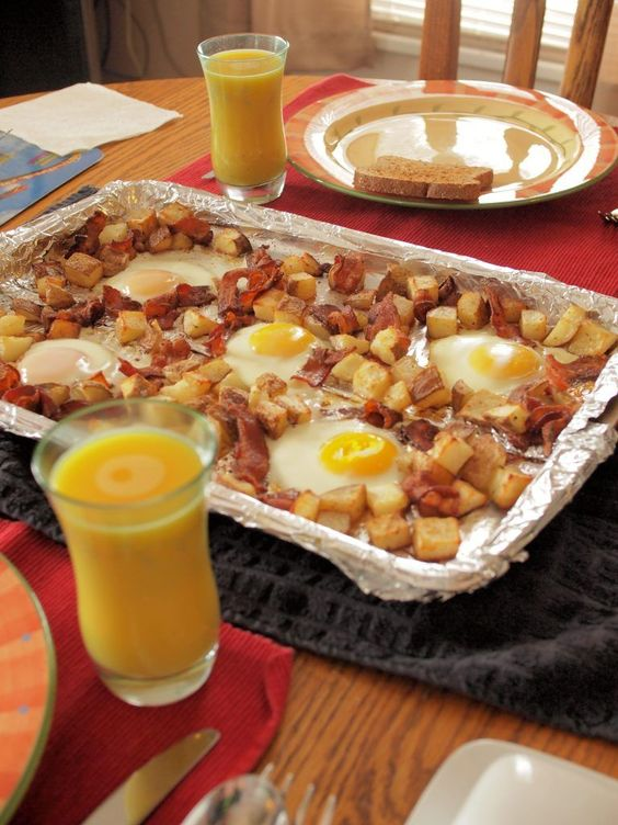 Bacon Egg Sheet Pan Breakfast