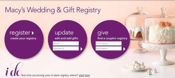 Macy S Gift Registry Wedding