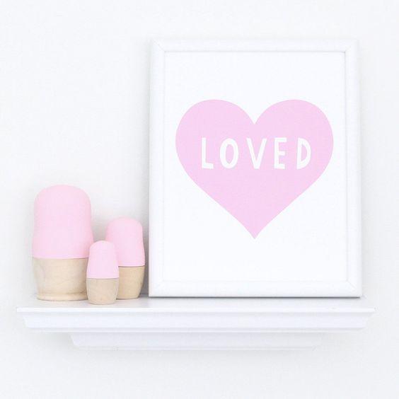 Pink Heart Art Print  - The Project Nursery Shop