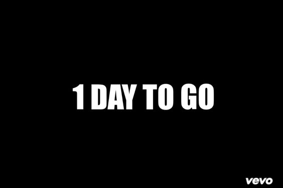1 DAY TO GO EVERYONE!!!
