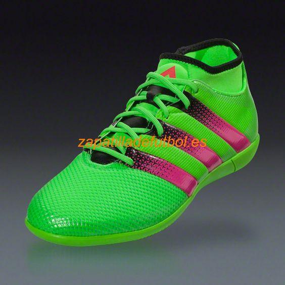 Comprar Zapatilla de futbol sala Adidas Ace 16.3 Primemesh IN Solar Verde Rosa Choque Negro Core