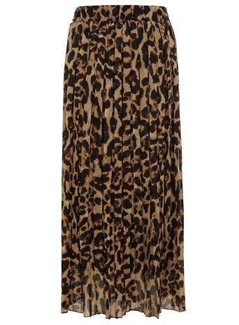 dorothy perkins brown leopard print maxi skirt 50