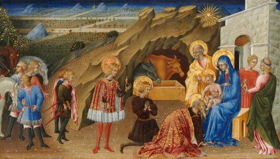 The Adoration of the Magi / La adoración de los Reyes Magos // c. 1470-1475 // Giovanni di Paolo // National Gallery of Art // #Jesus #Christ #Cristo #Epiphany