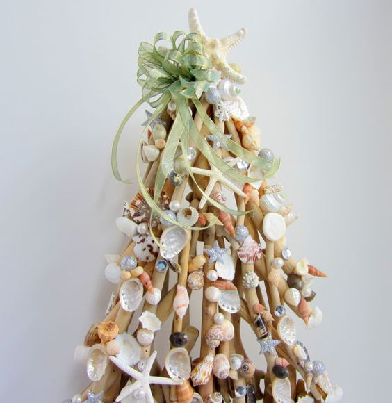 Beach Decor Driftwood  Christmas Tree w by beachgrasscottage, $89.00