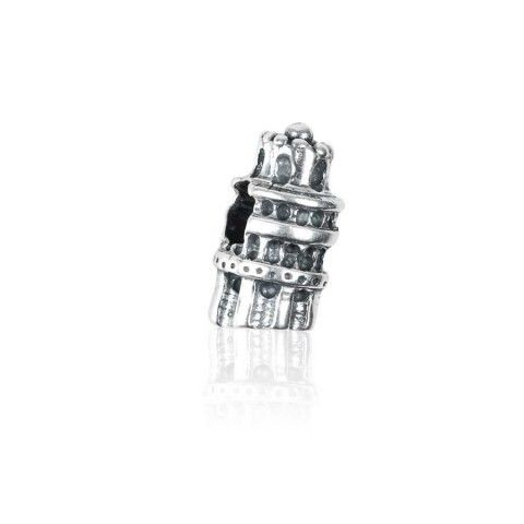 Bead torre di Pisa in argento