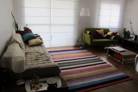 Tapete listrado http://edecasa.wordpress.com/2012/10/15/dicas-preciosas-para-escolher-o-tapete/