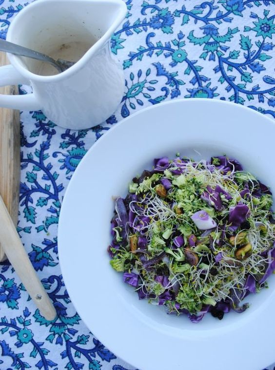 Green and purple salad