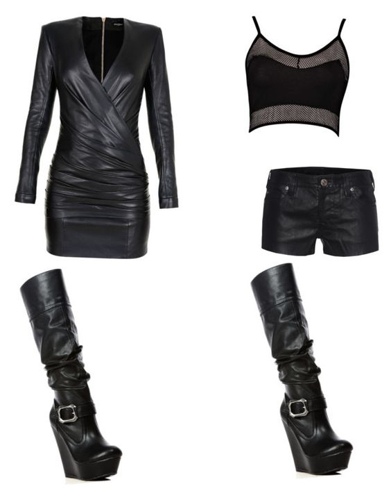 """""""Untitled #58"""" by fandom-queen101 ❤ liked on Polyvore featuring moda, Balmain, True Religion e Boohoo"""