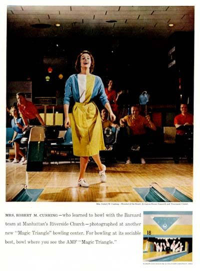 Image detail for -1960 AMF Bowling Centers Classic Vintage Print Ad