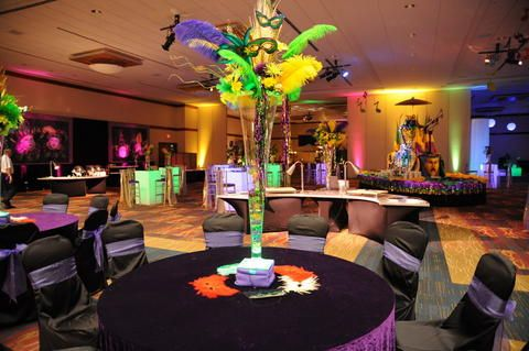 Mardi Gras Centerpieces And Events On Pinterest