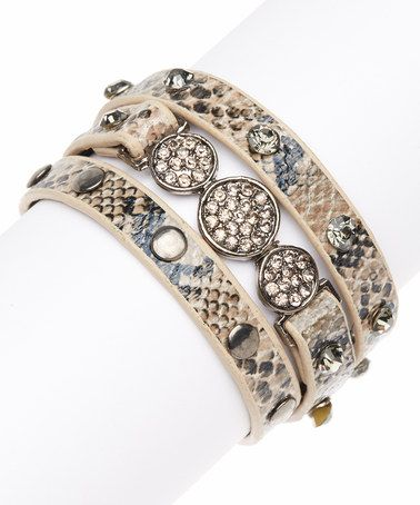 Another great find on #zulily! Silver Reptilian Disc Wrap Bracelet #zulilyfinds