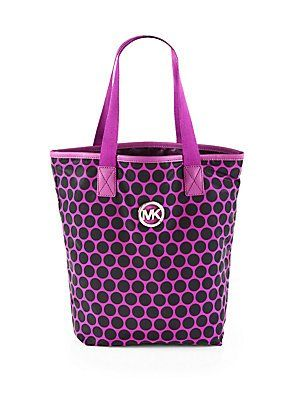 4600a8067f88 Michael Kors Logo Dotted Large Purple Tote mk 1038 1 - Marwood ...