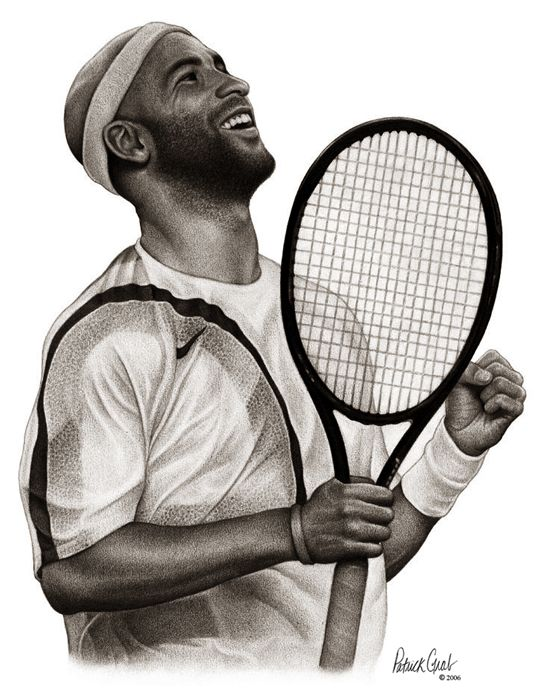 James Blake Action Drawing James Blake Professional Tennis Players Tennis