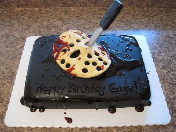 Your Happy Baker: Friday the 13th Jason Voorhees Birthday Cake instructions