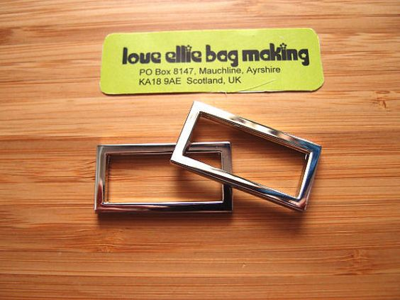 1.25 (32mm) One & quarter inch Flat Rectangle Rings in Silver Nickel/Antique Brass Bag and Strap Hardware by LoveEllieBagMaking Find it now at http://ift.tt/2ghwFCE!