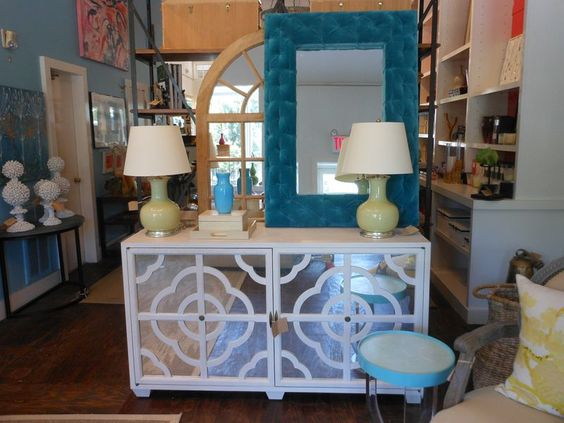 Detail framed #mirror and #cabinet with inlayed #mirror front at #EastHampton #mecox #interiordesign #mecoxgardens #furniture #shopping #design #decor #home #designidea #room #vintage #antiques #garden #hamptons