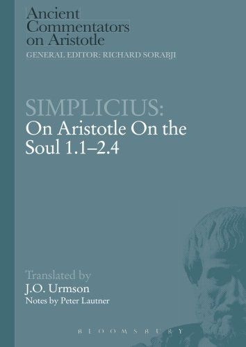 "On Aristotle ""On the Soul. 1.1-2.4"" / Simplicius ; translated by J.O. Urmson ; notes by Peter Lautner"
