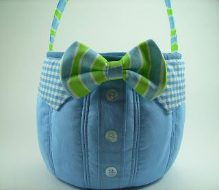 <p>Bow Tie Easter Basket</p> | Bumbleberries Boutique