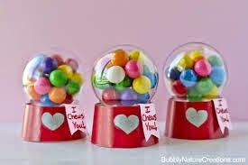 DIY gumball machines.... These are the cutest little Valentine's. Tutorial also given