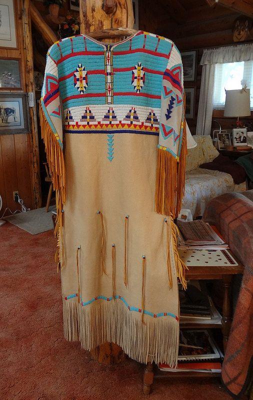 Beaded dress-front