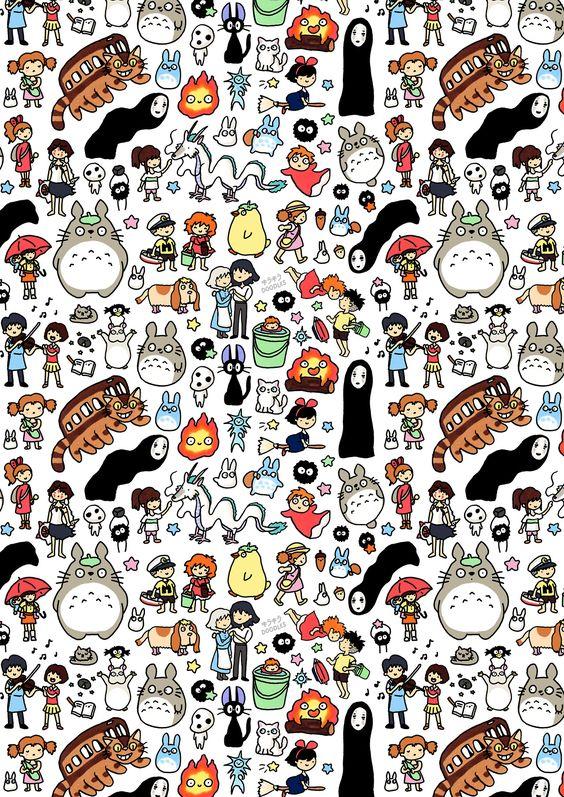 Kawaii Studio Ghibli Character Doodles with favourite characters from various Studio Ghibli movies (via Gau Paris)