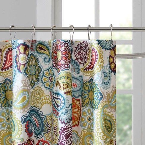 Tula Paisley Print Microfiber Shower Curtain Printed Shower