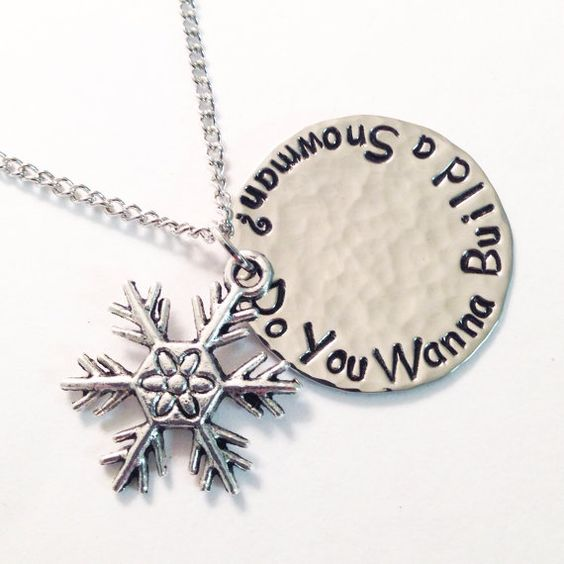 Hand stamped hammered polished Frozen inspired Do by briejadesigns, $20.00