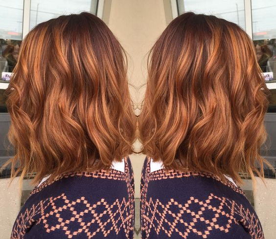 Love the first two pics! - Pumpkin Spice Hair Might Be The Biggest Hair Color Of The Season - SELF
