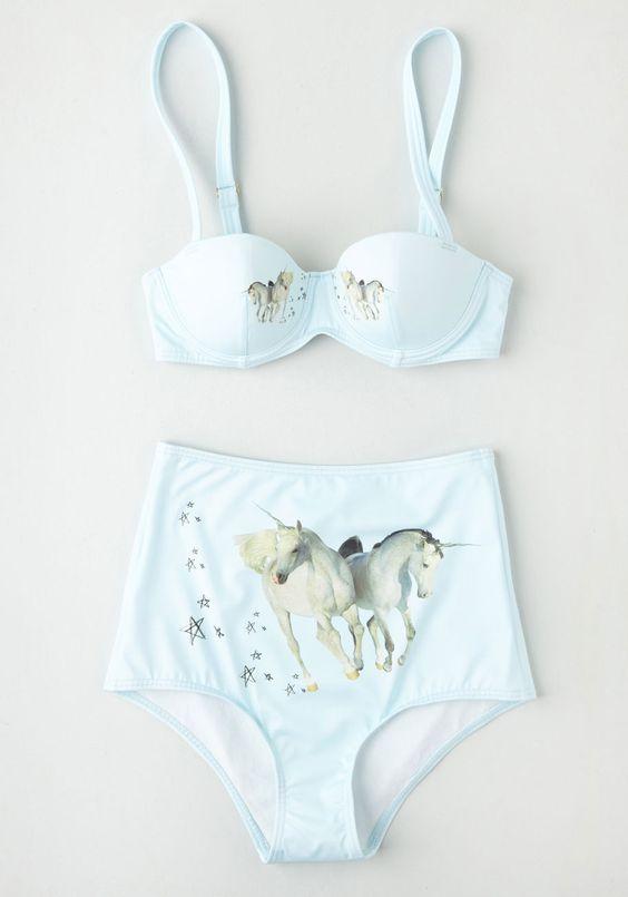 References Xviii, Traje De Baño Unicornio, Azul Modcloth, Modcloth Com, Unicornios Uni, Abundancia Unicornios, Wild Swimsuit, Swimsuit Bottom,