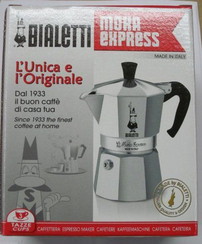 Bialetti Moka Express 06799 Stovetop Espresso Maker Pot Coffee Latte 3 cup >>> More info could be found at the image url.