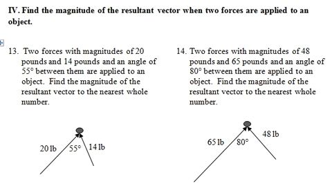Vector Worksheet Pdf With Key Focuses On Resultant Vectors 25 Problems Worksheets Trigonometry How To Apply Vector addition worksheet with answers