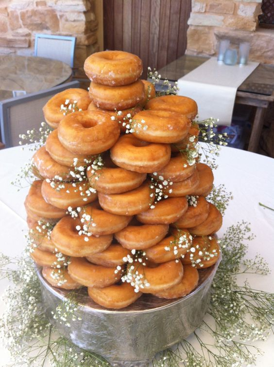 Donut Tower instead of Wedding Cake? . Of course we did !
