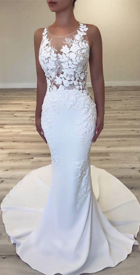 Slim Fit Wedding Dress Fitted Wedding Dress Bridesmaid Dressing Gowns Mermaid Wedding Dress