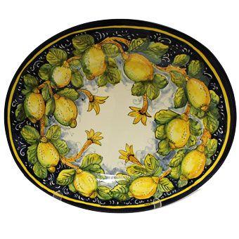 Italian Ceramic Tuscan Lemon Platter 16 Quot X 20 Quot Wish