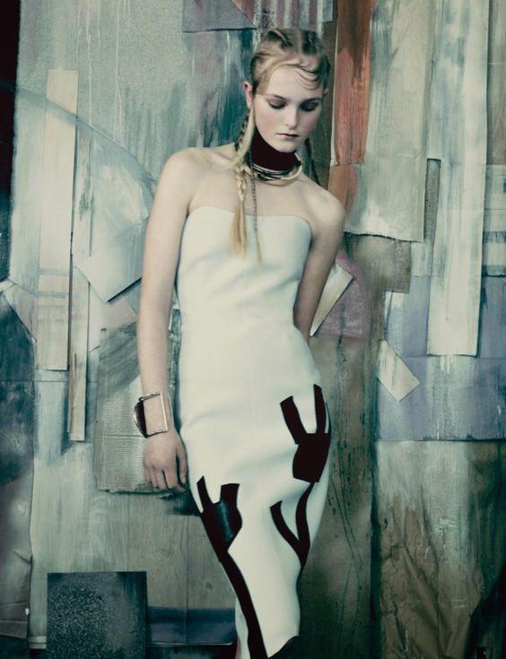 Publication: Vogue UK May 2014 Model: Jean Campbell Photographer: Paolo Roversi Fashion Editor: Francesca Burns Hair: Luke Hersheson Make-up: Sally Branka Nails: Elsa Durrens