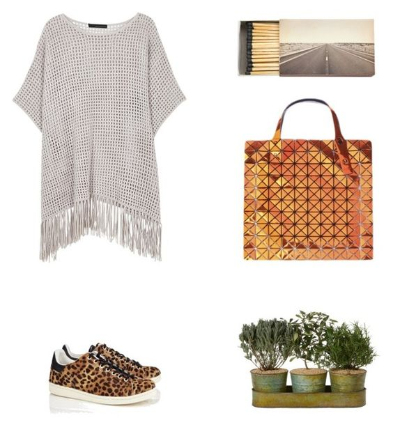 """Grace"" by zoechengrace on Polyvore featuring 360 Sweater, Jayson Home, Étoile Isabel Marant and Bao Bao by Issey Miyake"