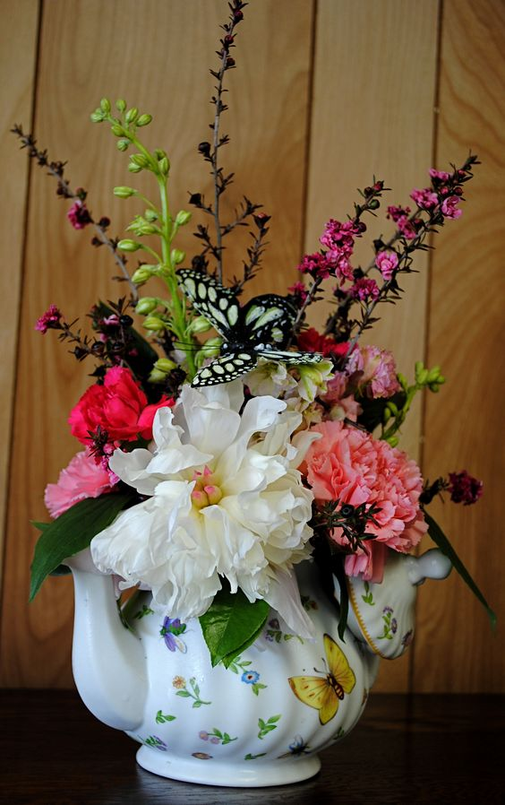 flower arrangement in teapots | home » any occasion » teacup