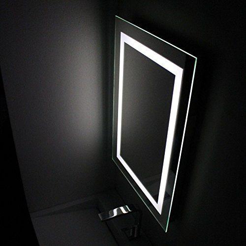 Rue Du Bain Emire70 Connec T Miroir Salle De Bain Antibuee A Led 50 X 70 Cm Miroir Salle De Bain Eclairage Led Et Salle De Bain