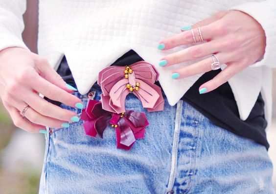lanvin butterfly pins DIY