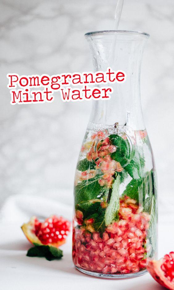 Pomegranate Mint Water