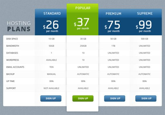 Pricing Table Design Price Tables Pinterest Pricing table - the resumator
