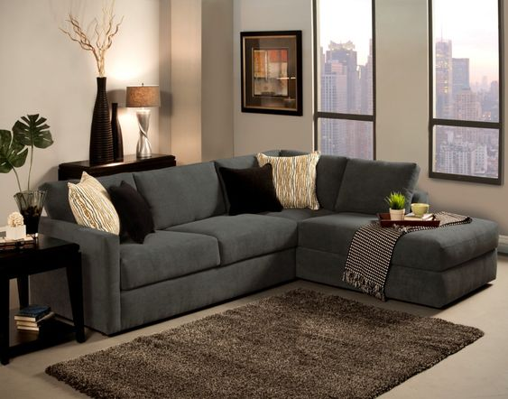 Grey l shaped sofa chaise lounge sofa complete beige and for C shaped living room