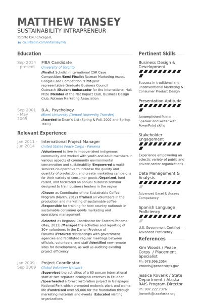 lean lead (project manager) Resume Example private Pinterest - resumes for project managers