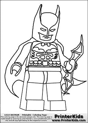 Lego Batman - Weapon and Cape - Coloring Page | Coloring ...