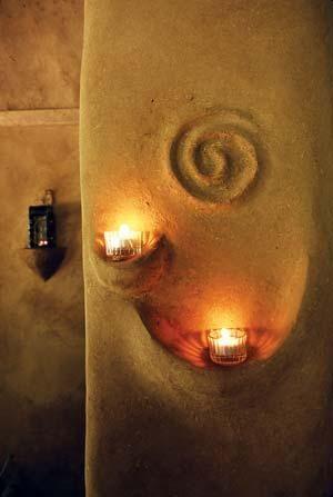 Spirale über Kerzenhalter wunderschön, so wie ich das haben will